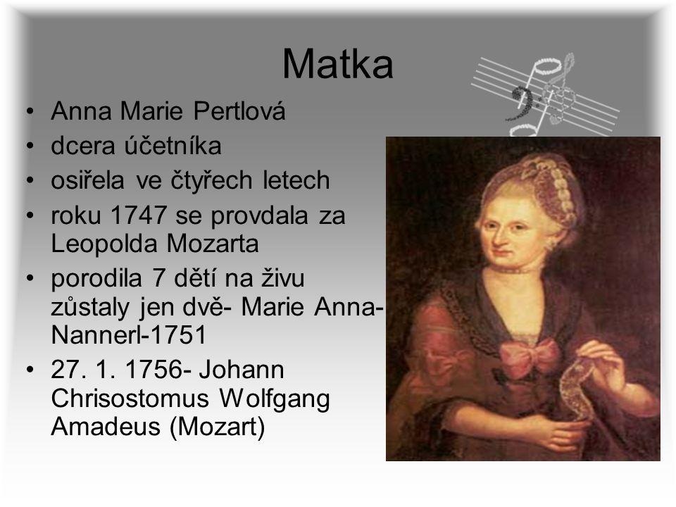 Matka Anna Marie Pertlová dcera účetníka osiřela ve čtyřech letech
