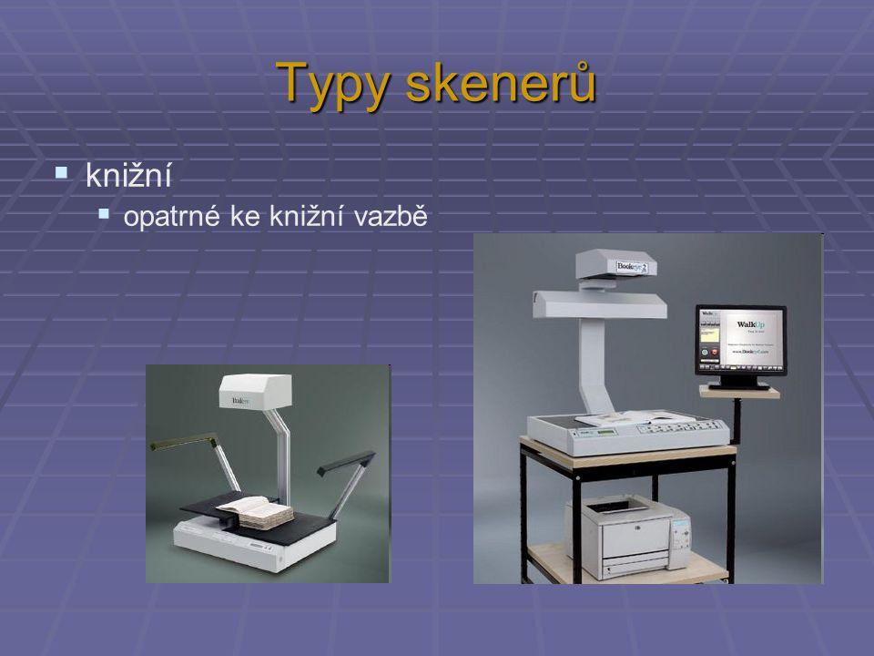 Typy skenerů knižní opatrné ke knižní vazbě