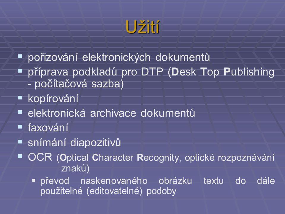 Užití pořizování elektronických dokumentů