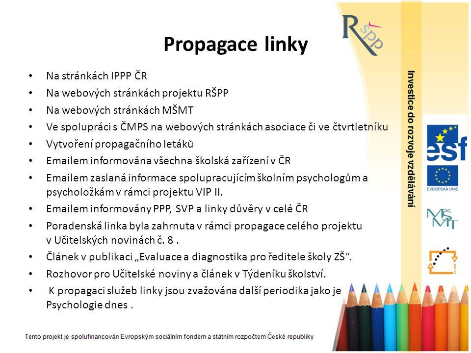 Propagace linky Na stránkách IPPP ČR