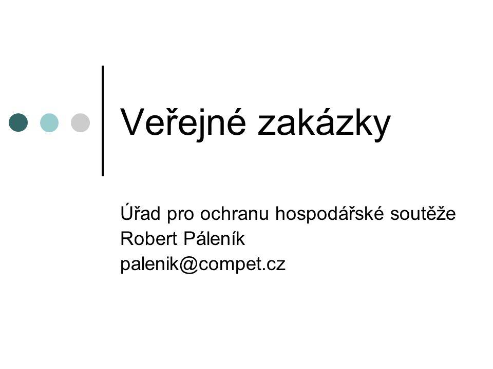 Úřad pro ochranu hospodářské soutěže Robert Páleník palenik@compet.cz