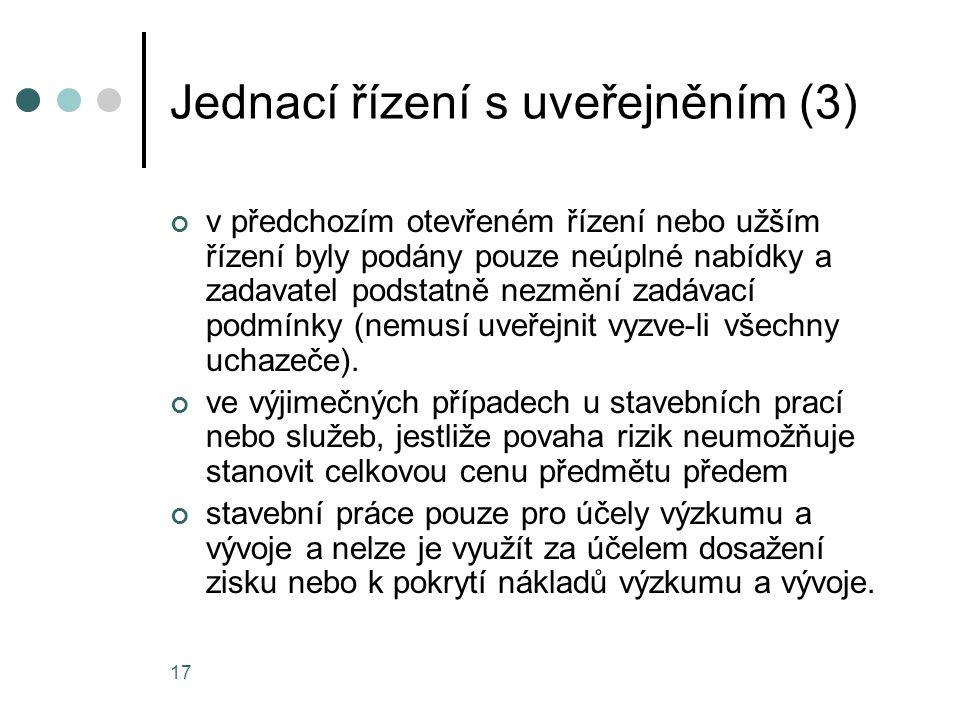 Jednací řízení s uveřejněním (3)