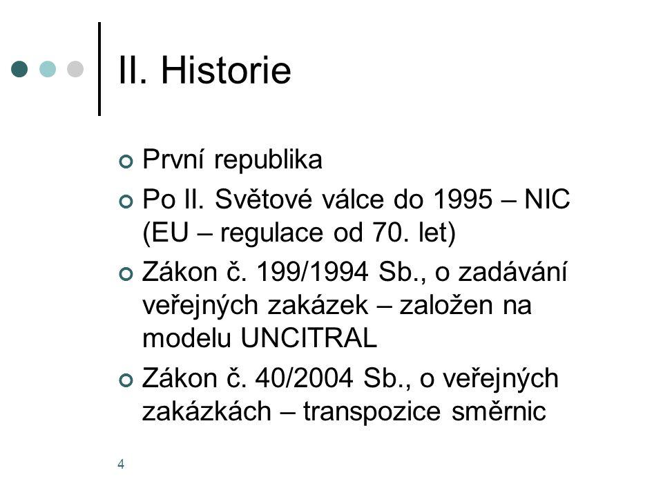 II. Historie První republika