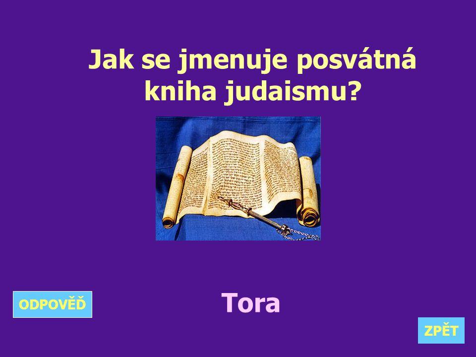 Jak se jmenuje posvátná kniha judaismu