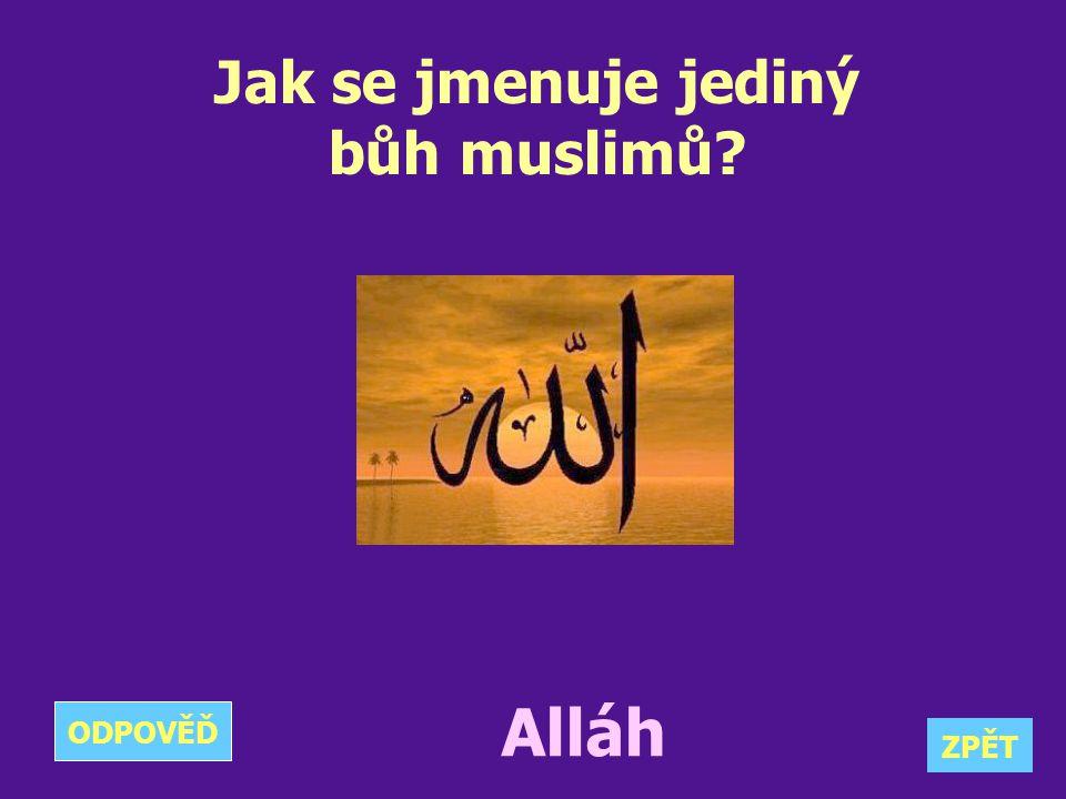 Jak se jmenuje jediný bůh muslimů