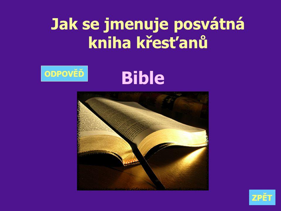 Jak se jmenuje posvátná kniha křesťanů