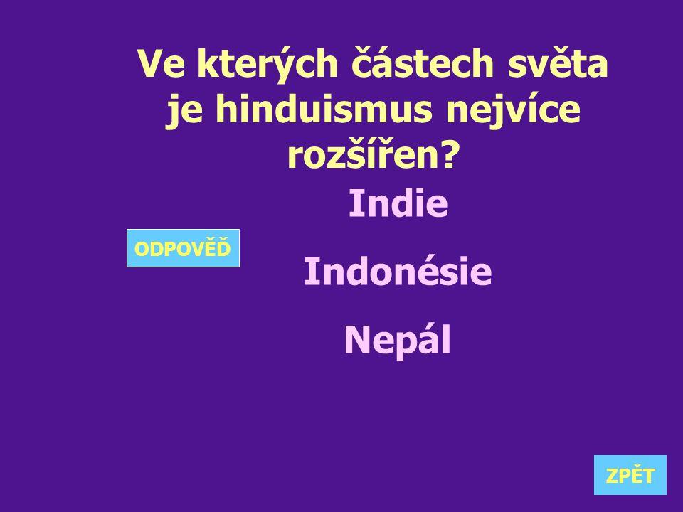 Ve kterých částech světa je hinduismus nejvíce rozšířen