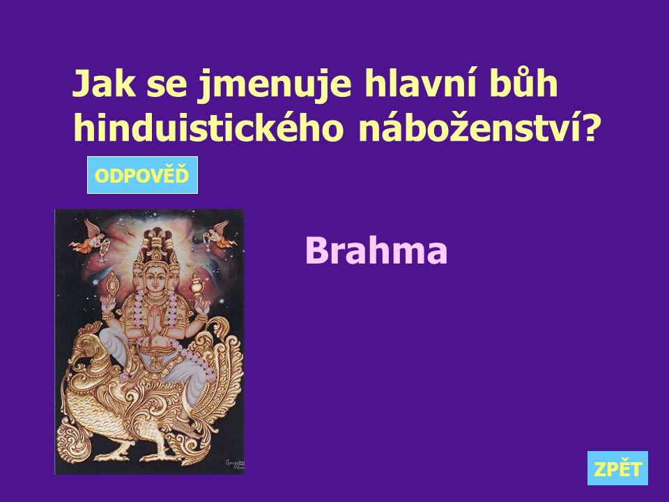 Jak se jmenuje hlavní bůh hinduistického náboženství