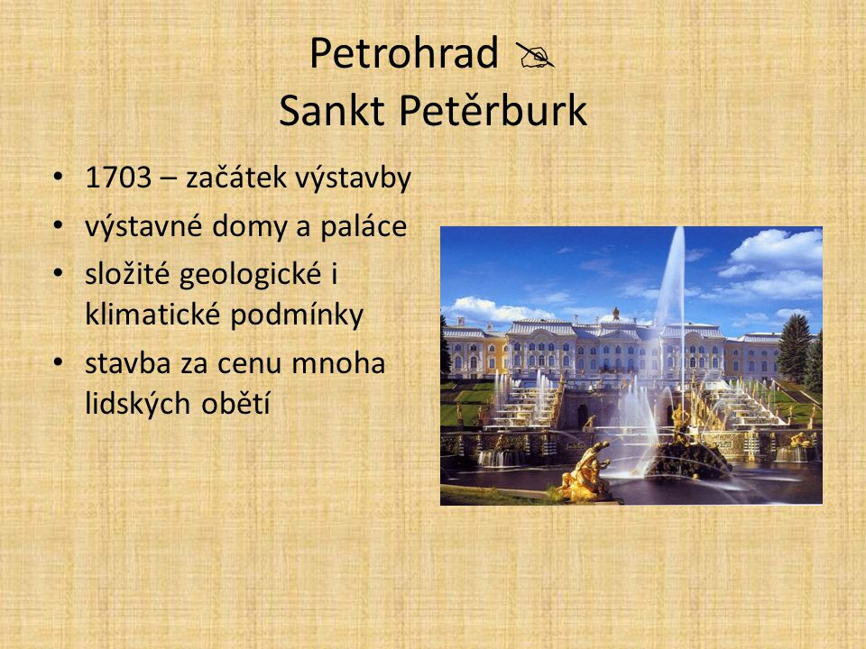 Petrohrad  Sankt Petěrburk