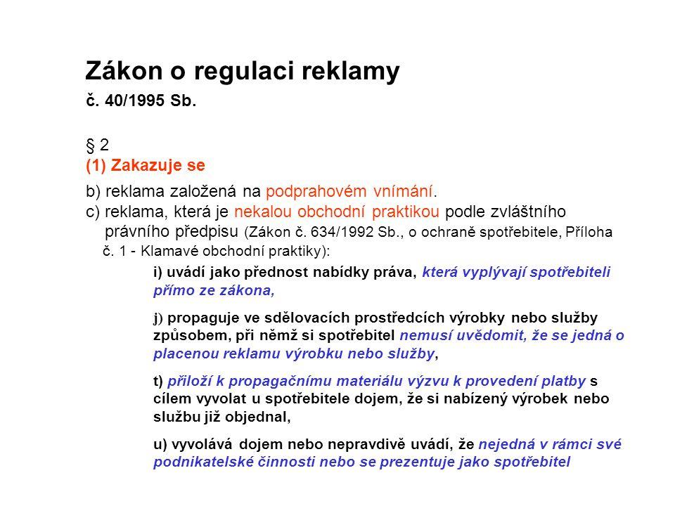 Zákon o regulaci reklamy