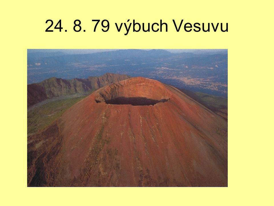 24. 8. 79 výbuch Vesuvu