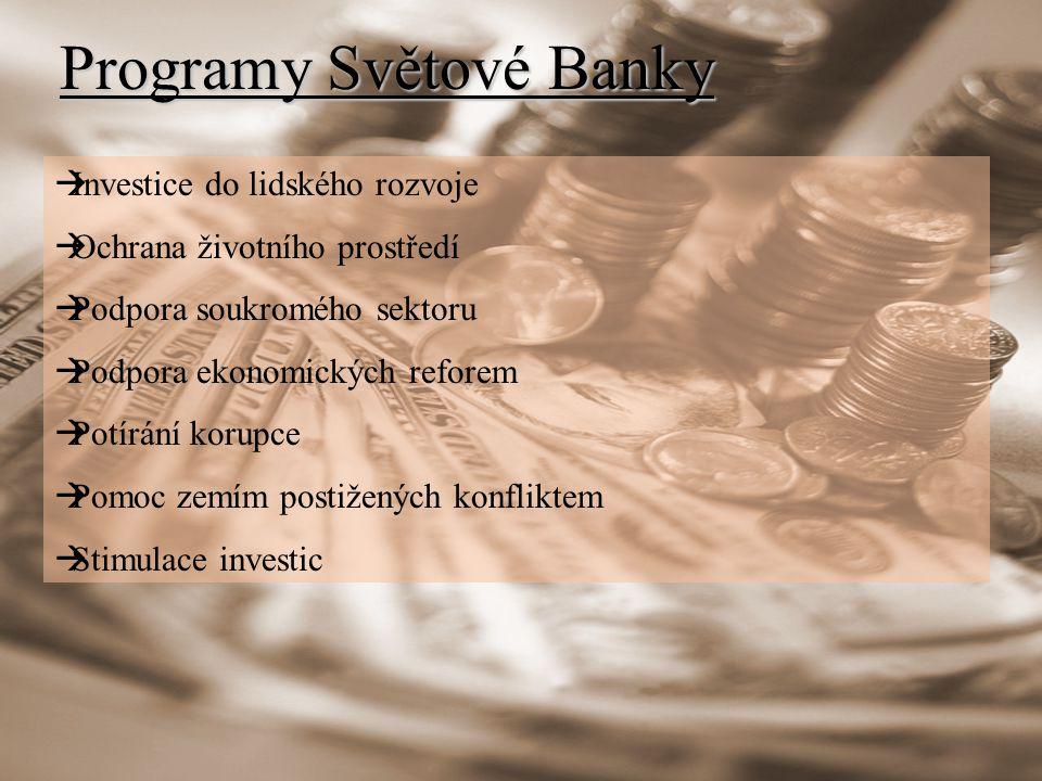 Programy Světové Banky
