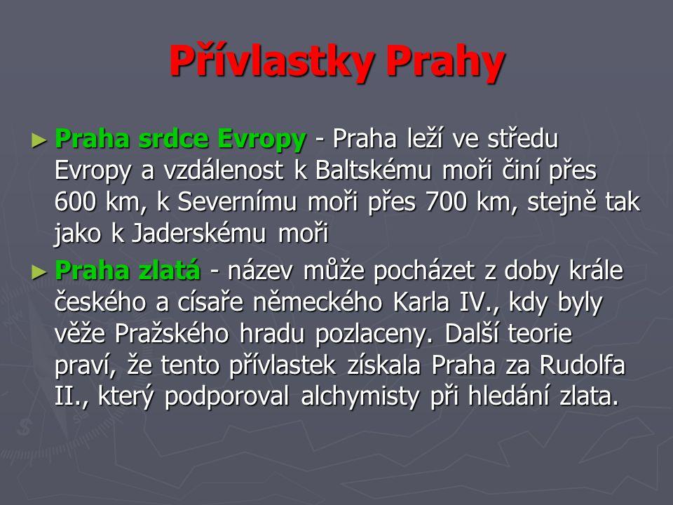 Přívlastky Prahy