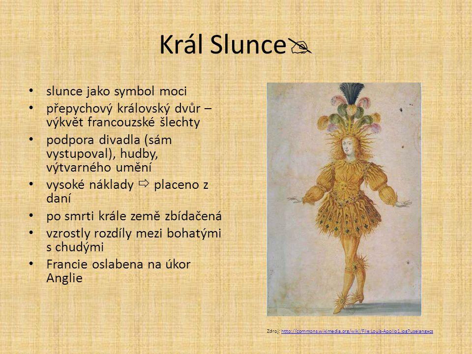 Král Slunce slunce jako symbol moci