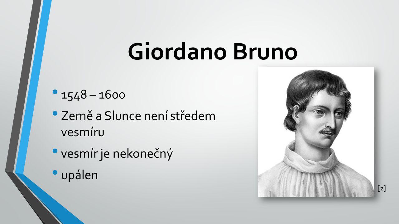 Giordano Bruno 1548 – 1600 Země a Slunce není středem vesmíru