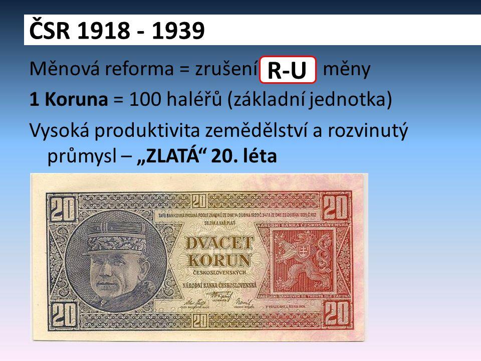 ČSR 1918 - 1939