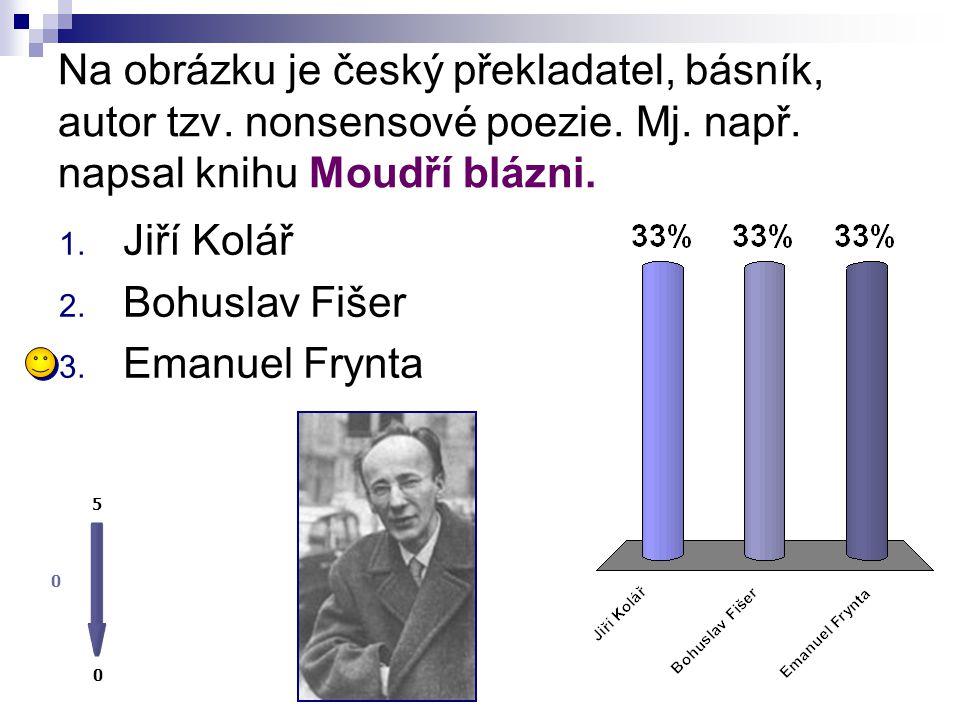 Na obrázku je český překladatel, básník, autor tzv. nonsensové poezie