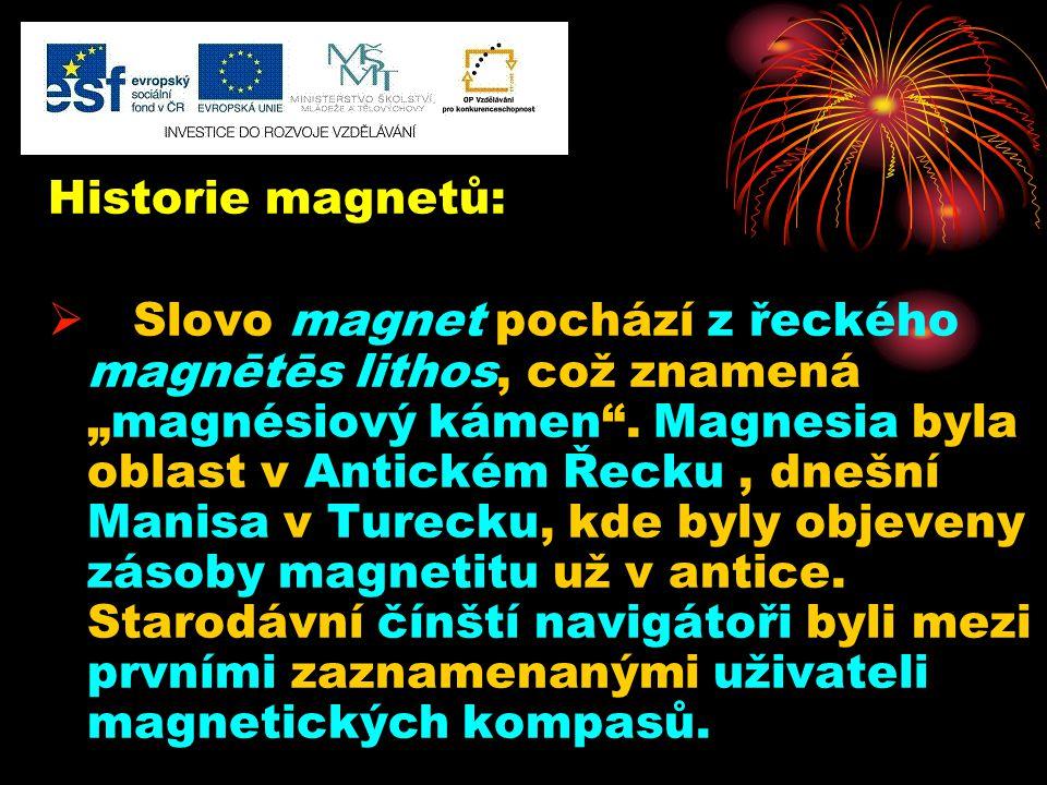 Historie magnetů: