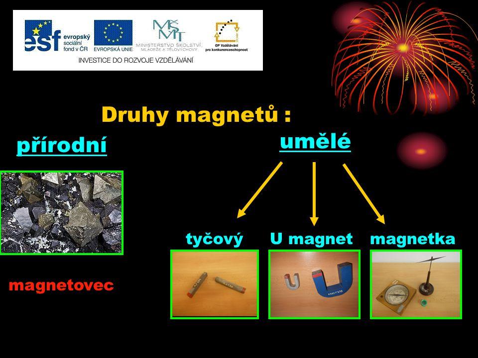 tyčový U magnet magnetka umělé