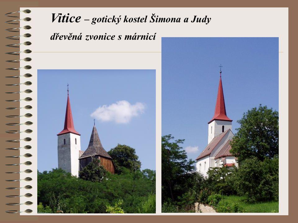 Vitice – gotický kostel Šimona a Judy
