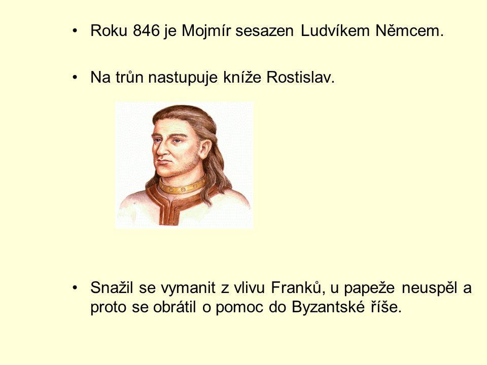 Roku 846 je Mojmír sesazen Ludvíkem Němcem.