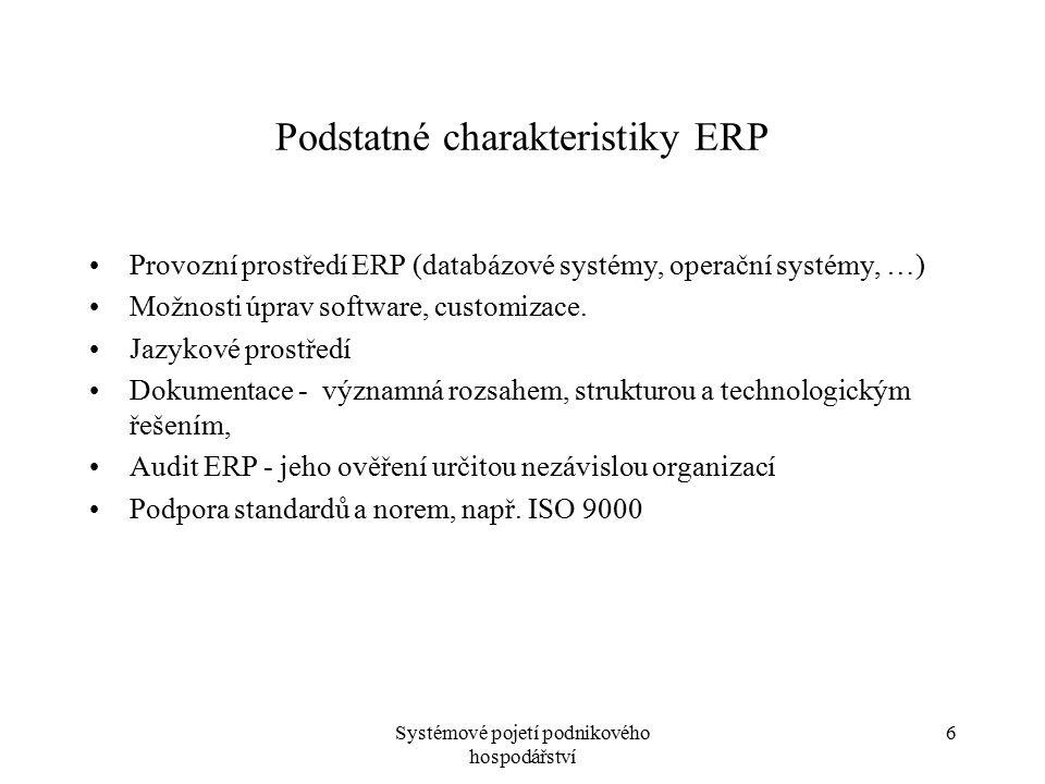 Podstatné charakteristiky ERP