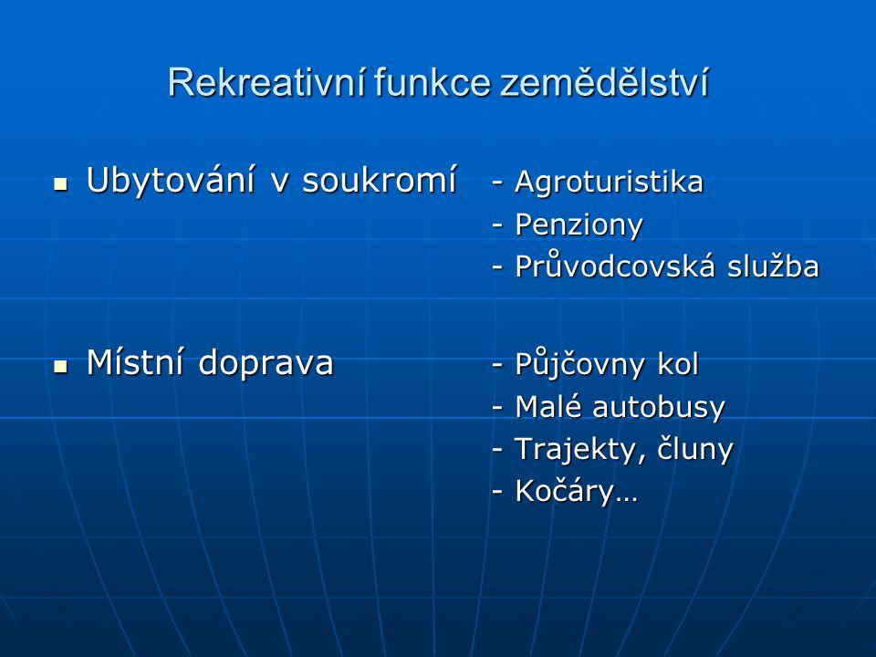 Rekreativní funkce zemědělství