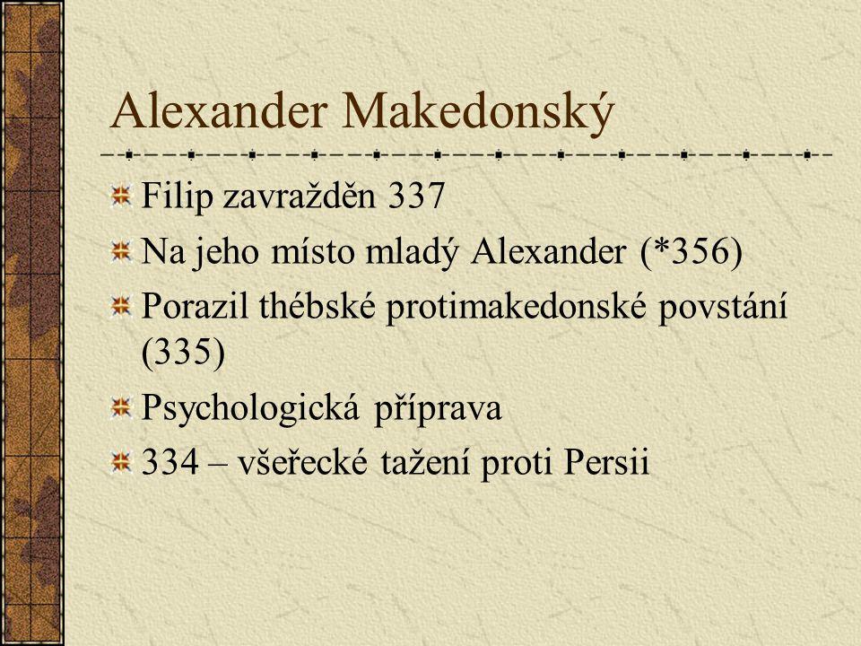 Alexander Makedonský Filip zavražděn 337