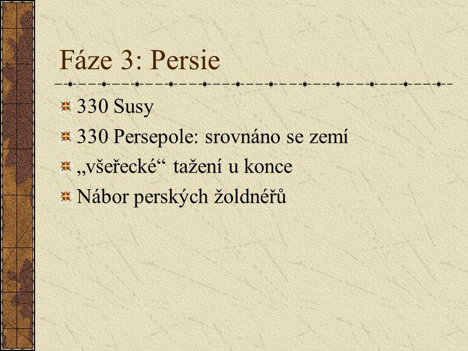 Fáze 3: Persie 330 Susy 330 Persepole: srovnáno se zemí