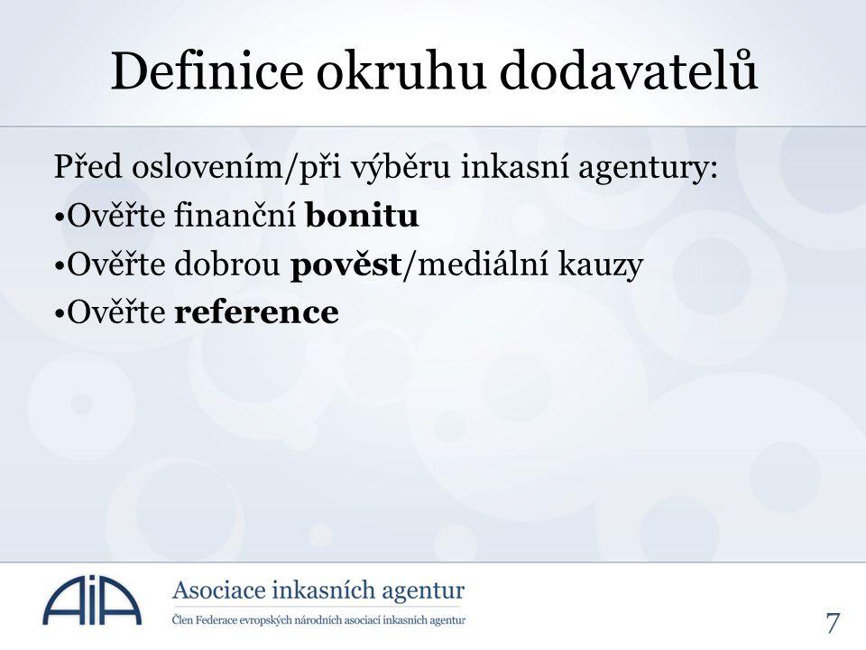 Definice okruhu dodavatelů