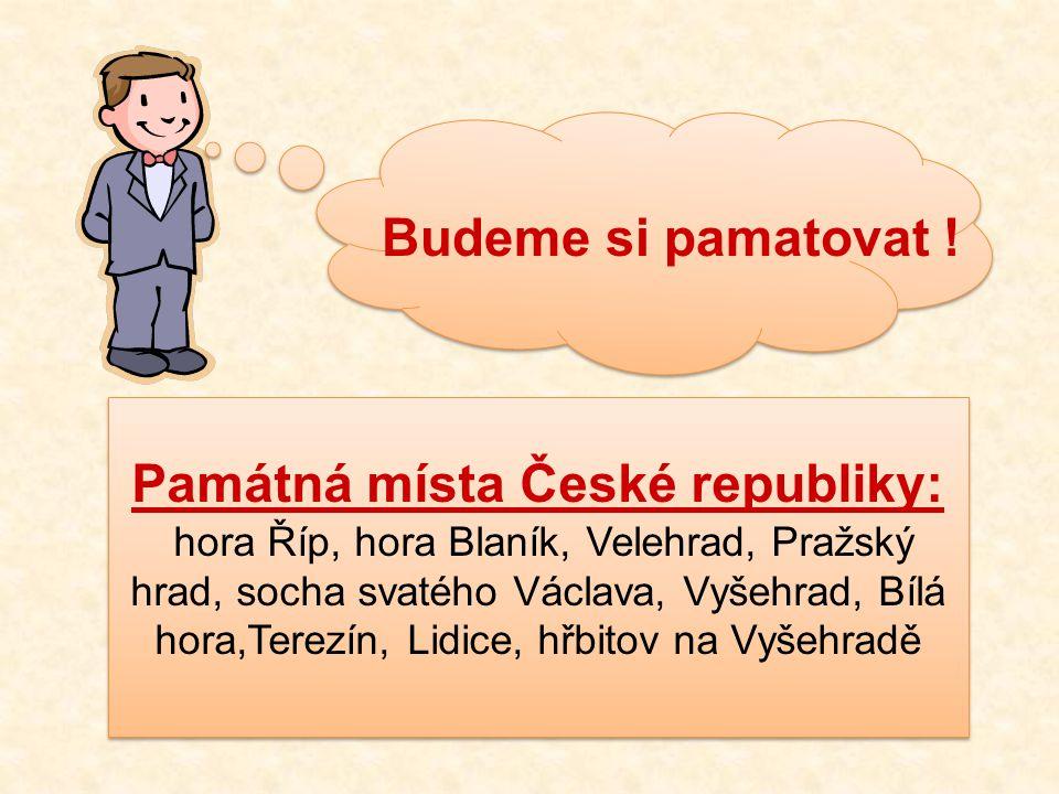 Památná místa České republiky: