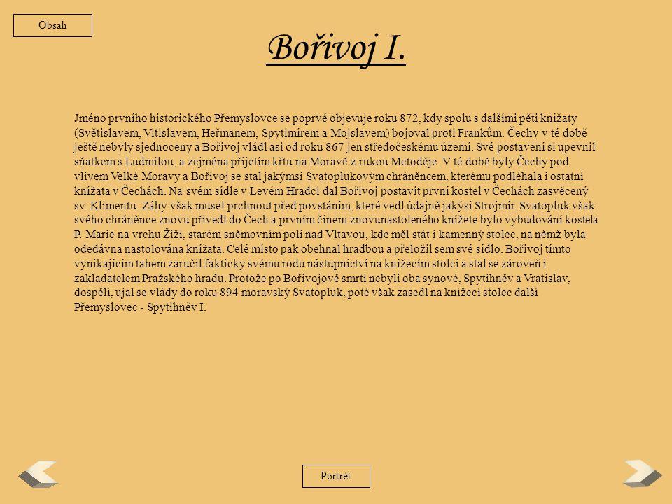 Obsah Bořivoj I.