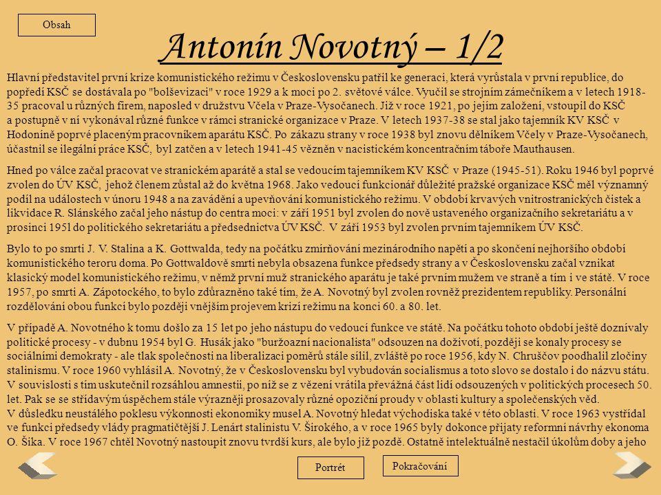 Obsah Antonín Novotný – 1/2.