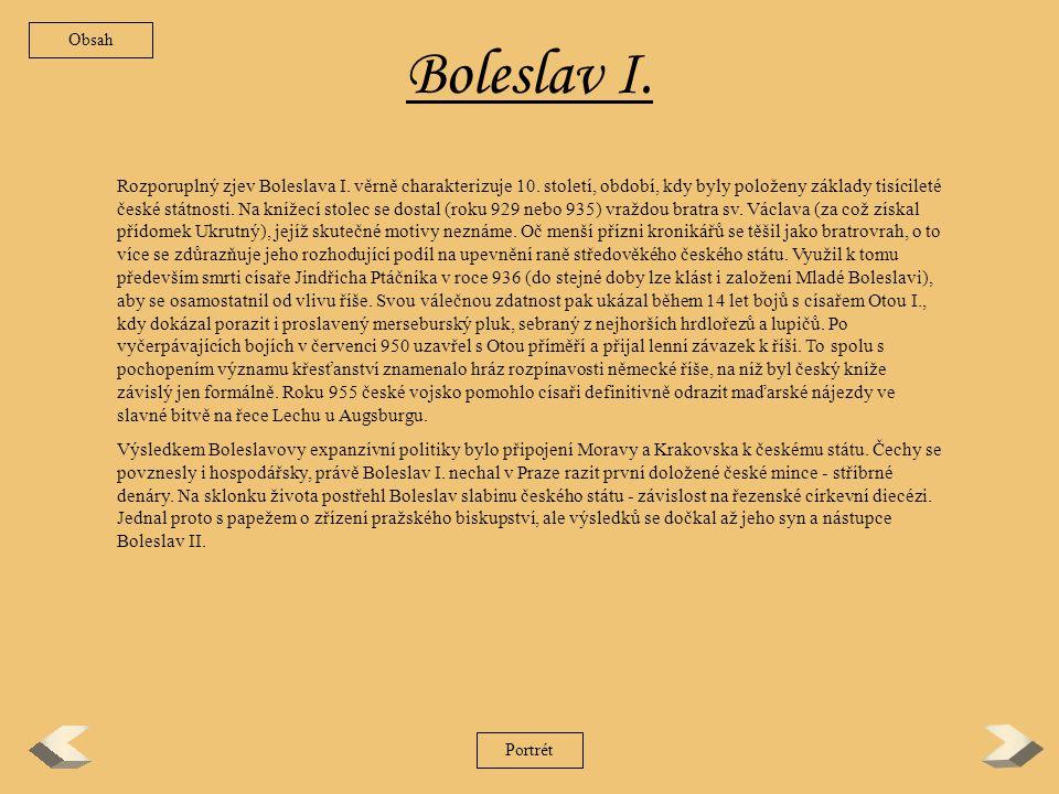 Obsah Boleslav I.