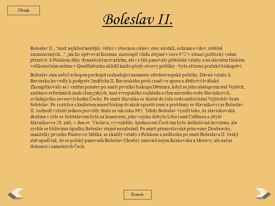 Obsah Boleslav II.