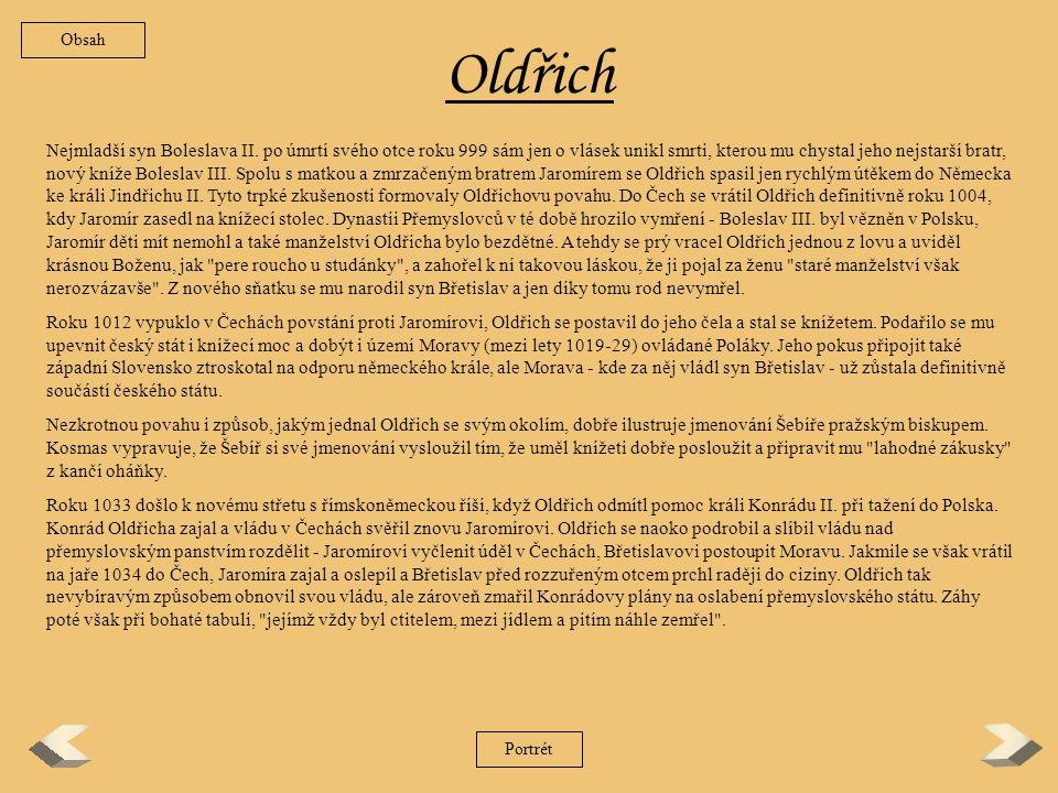 Obsah Oldřich.