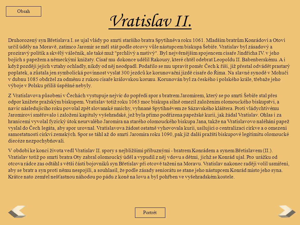 Obsah Vratislav II.