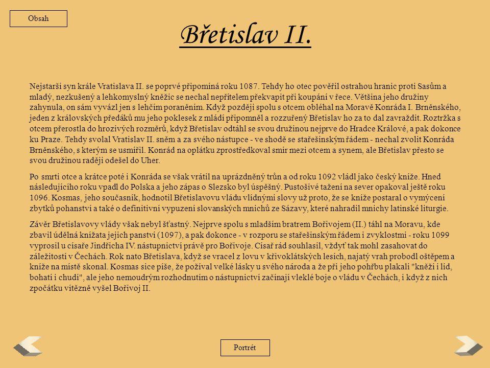 Obsah Břetislav II.