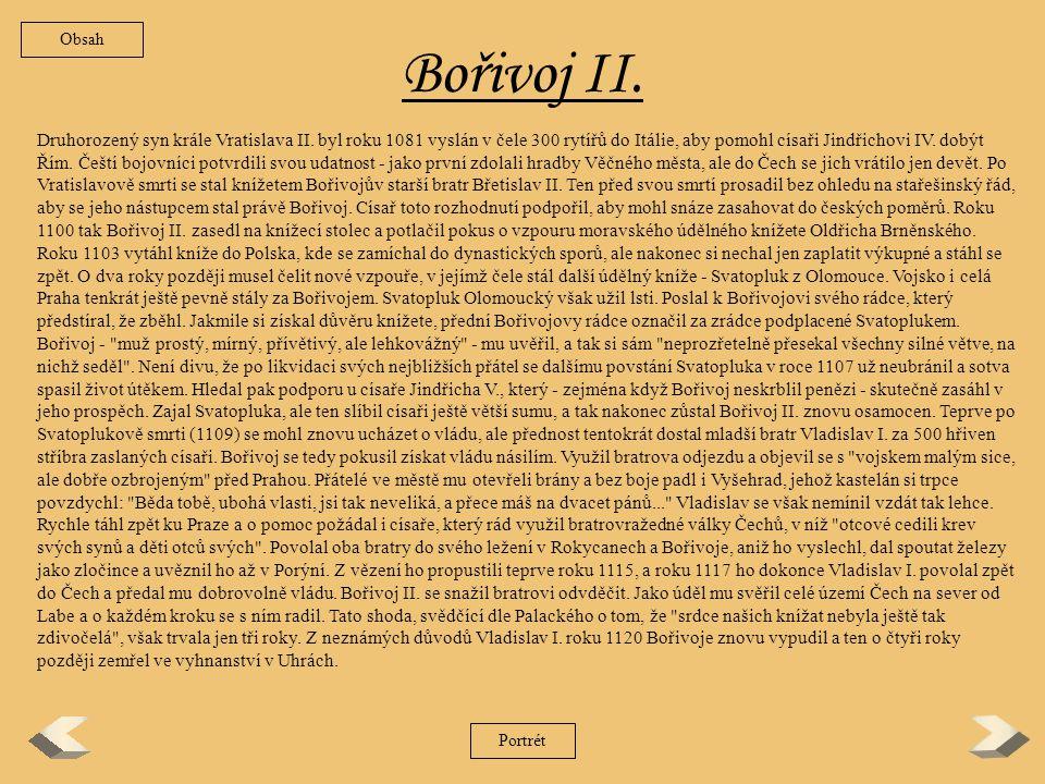 Obsah Bořivoj II.