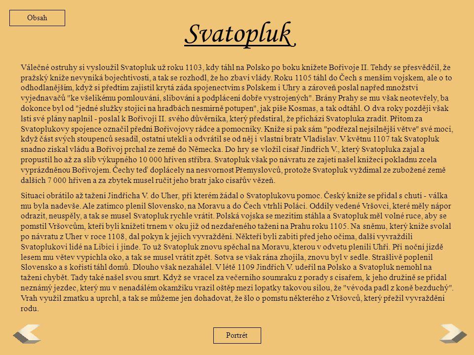 Obsah Svatopluk.