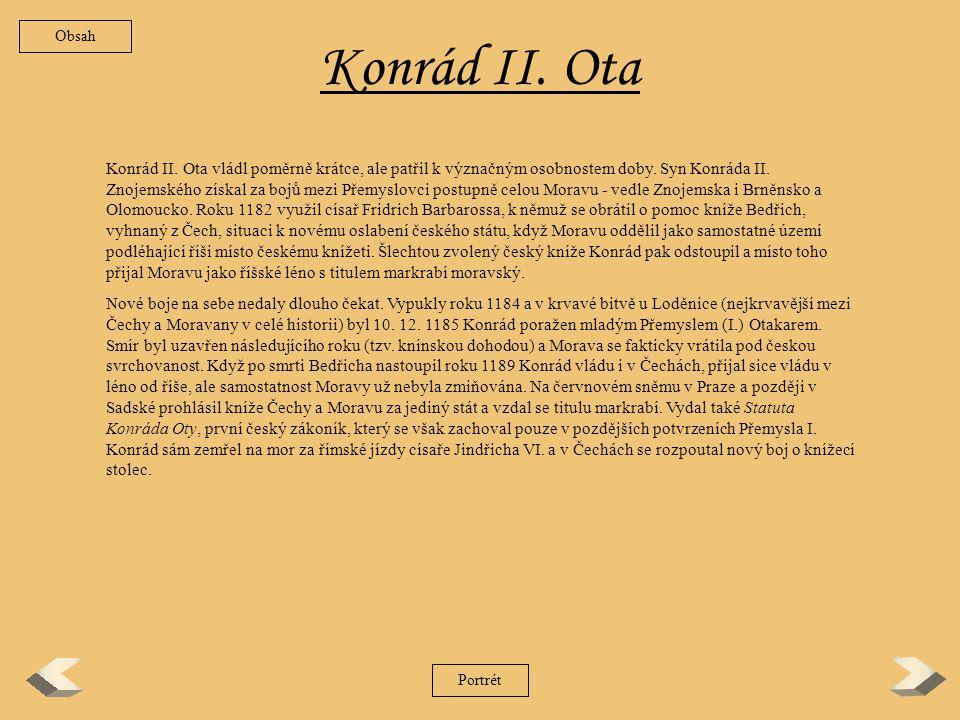 Obsah Konrád II. Ota.