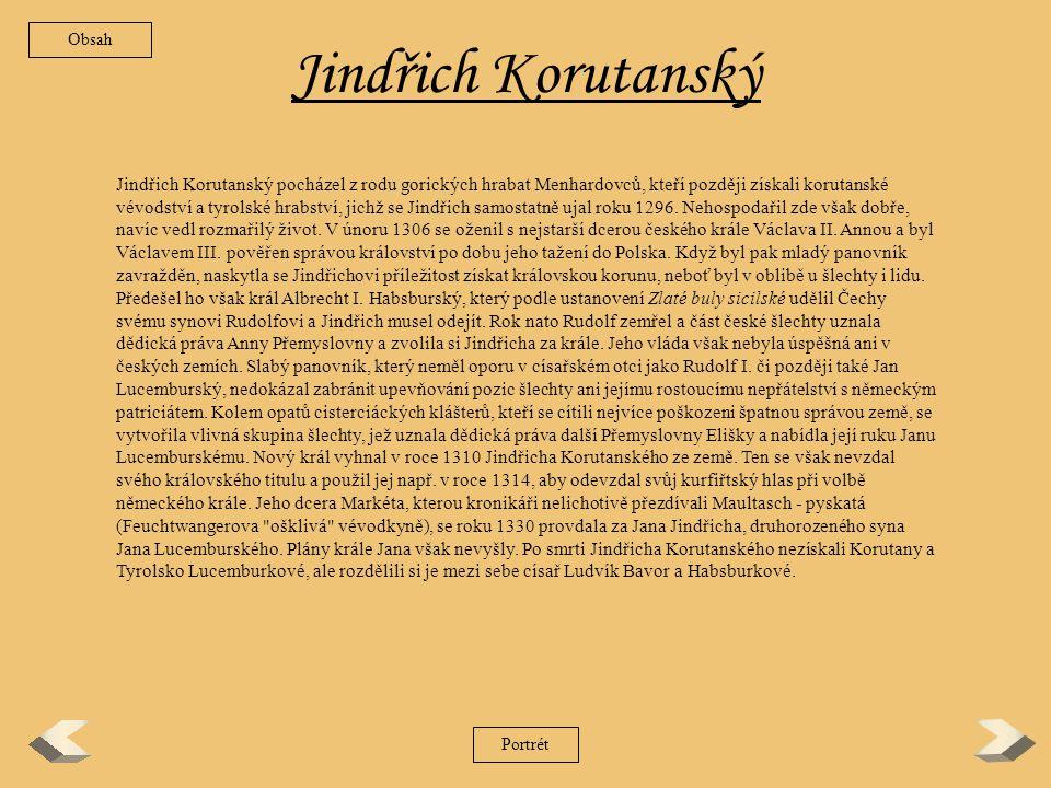 Obsah Jindřich Korutanský.