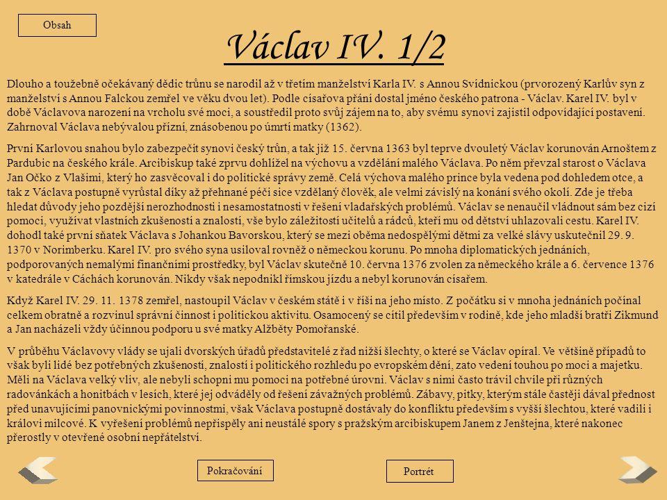 Obsah Václav IV. 1/2.