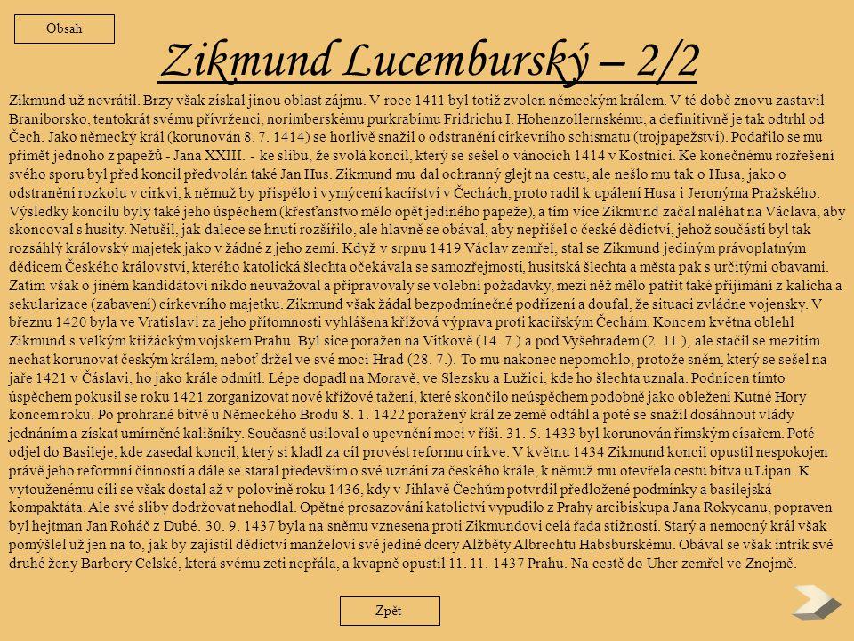 Zikmund Lucemburský – 2/2