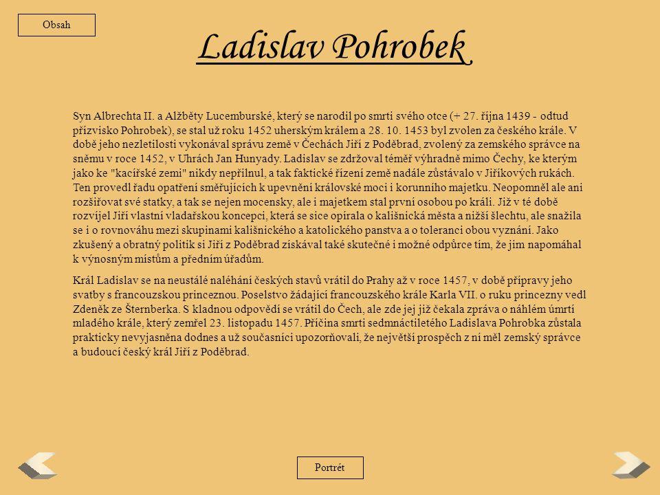 Obsah Ladislav Pohrobek.