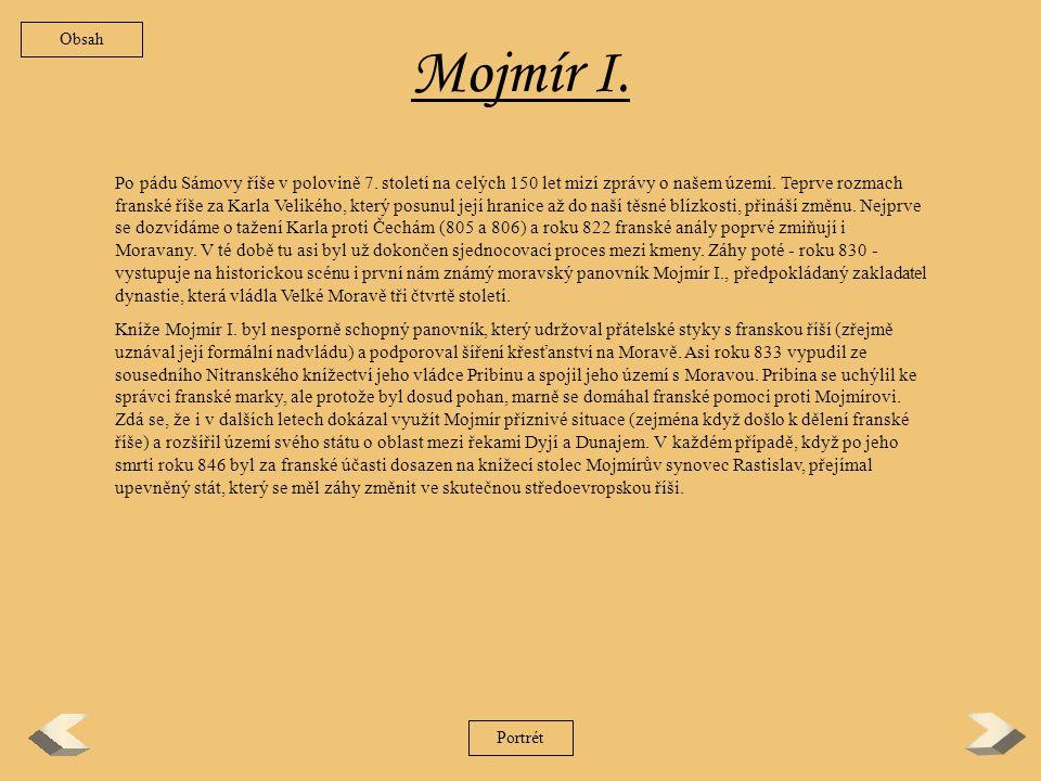 Obsah Mojmír I.