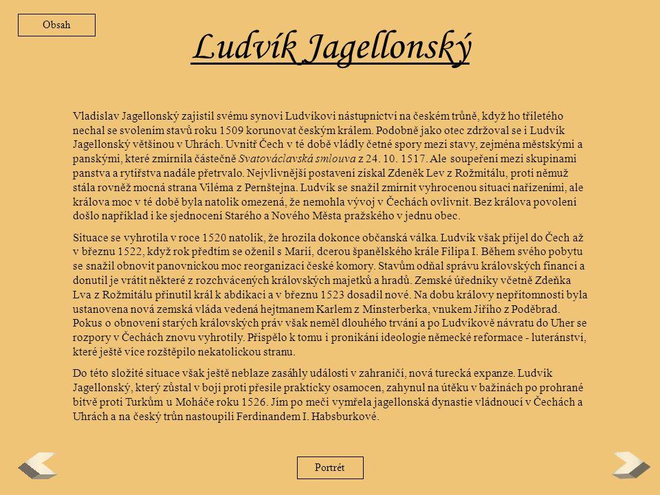 Obsah Ludvík Jagellonský.