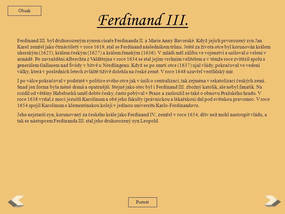 Obsah Ferdinand III.