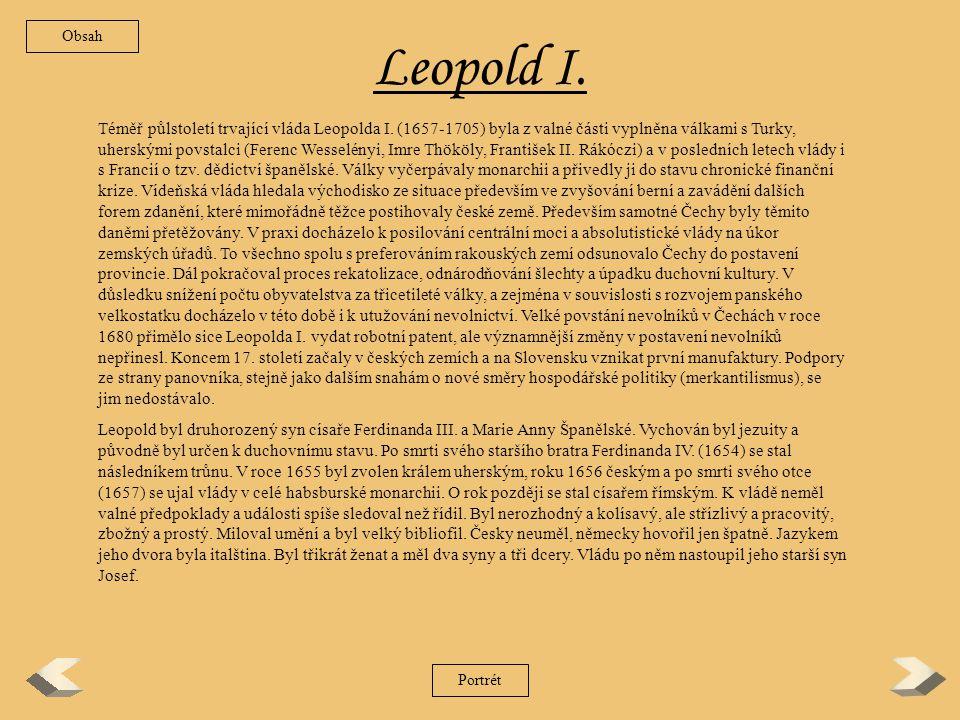 Obsah Leopold I.