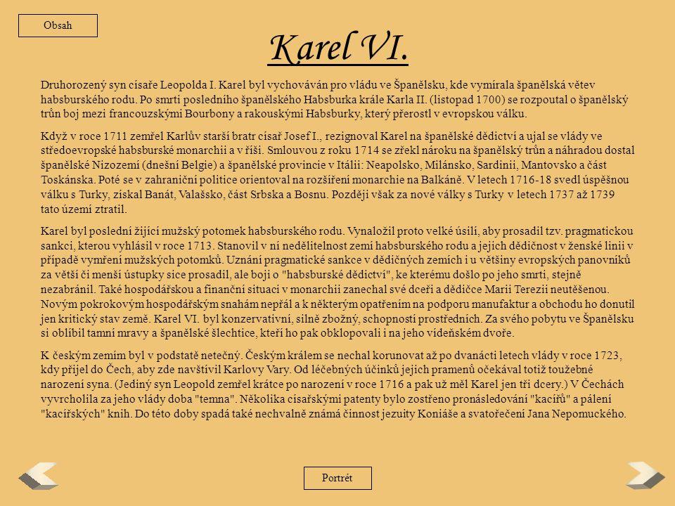Obsah Karel VI.